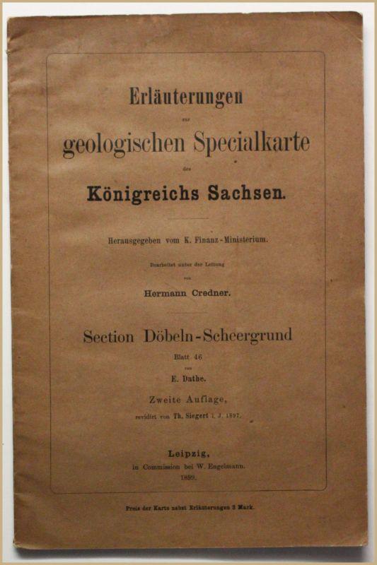 Credner Erläuterungen zur geologischen Spezialkarte des Königr. Sachsen 1899 sf