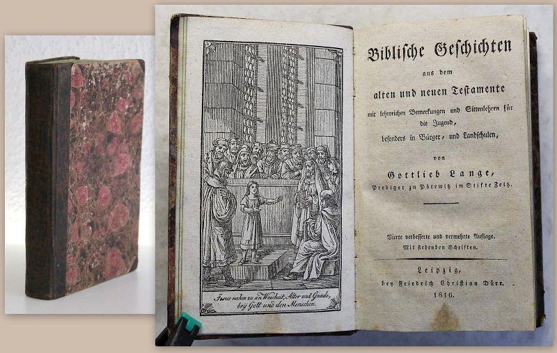 Lange Biblische Geschichten aus dem Alten und neuen Testament 1916 Frontispiz xz