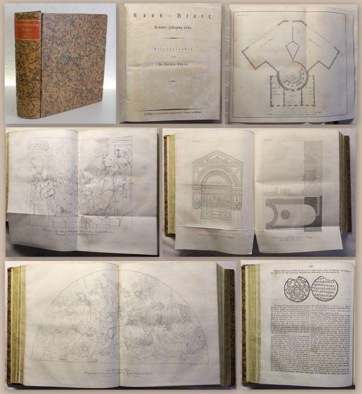Schorn Menzel Sammelband 3 Zeitschriften Kunst Literatur Inteligenz-Blatt 1828