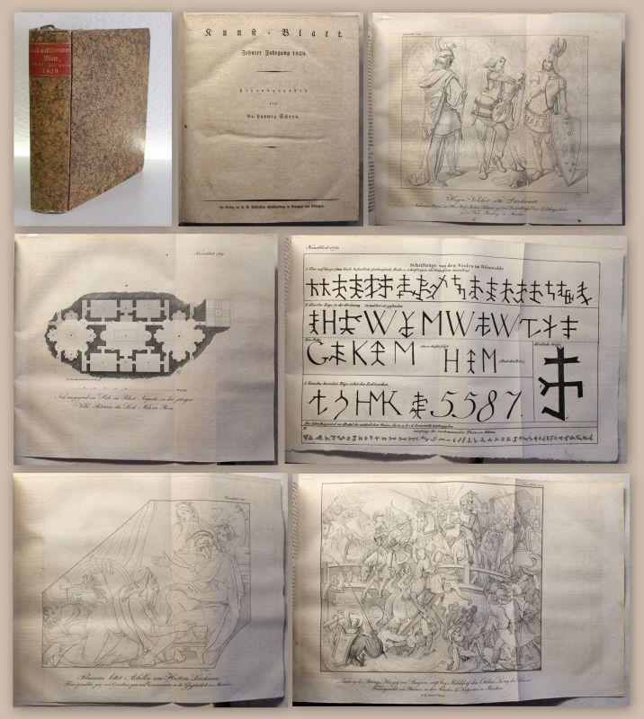 Schorn Menzel Sammelband 3 Zeitschriften Kunst Literatur Inteligenz-Blatt 1829