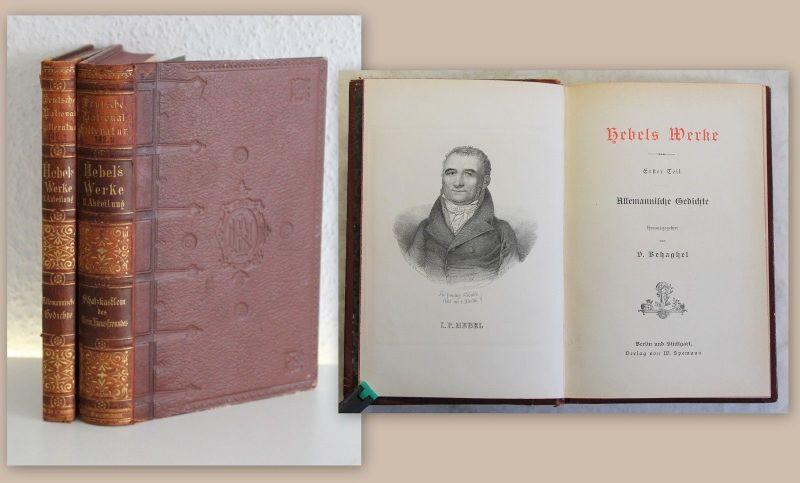 Hebels Werke 2 Bde um 1900 Deutsche Nationalliteratur Gedichte Weltliteratur xz