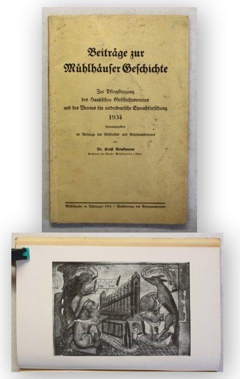 Brinkmann Beiträge zur Mühlhäuser Geschichte 1934 Ortskunde Geschichte Thüringen