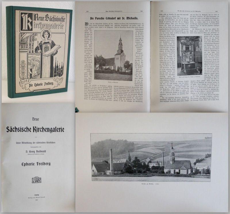 Buchwald Neue Sächsische Kirchengalerie Ephorie Freiberg 1901 Ortskunde Sachsen