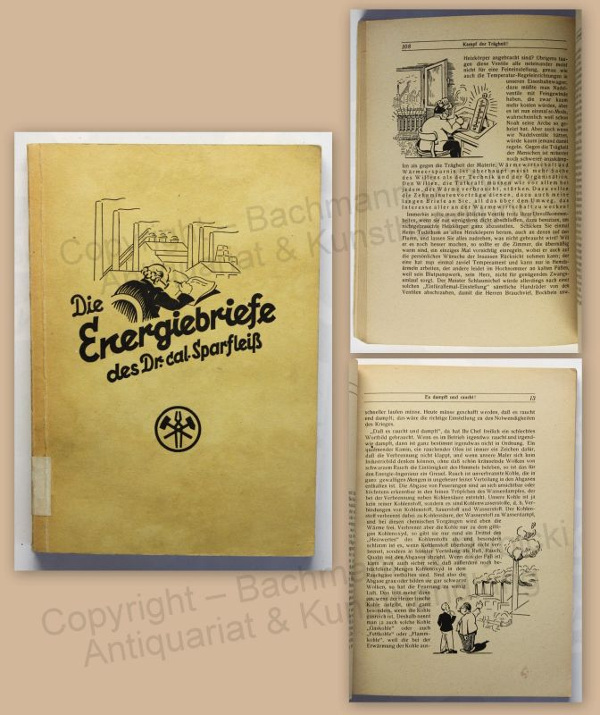 Die Energiebriefe des Dr. cal. Sparfleiß 1943 Humor Satire Belletristik xz