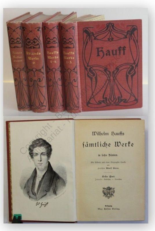 Konvolut Wilhelm Hauffs Sämtliche Werke 4 Bde 1910 Belletristik Klassiker xy