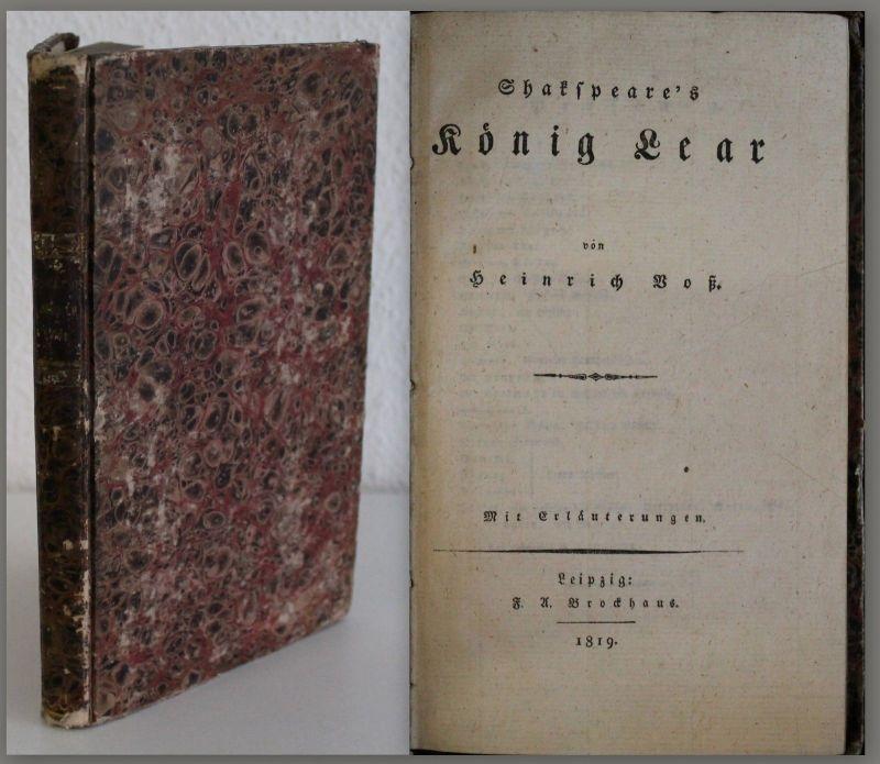 Voß: Shakspeare's König Lear 1819 - Brockhaus, Weltliteratur, Tragödie - xz