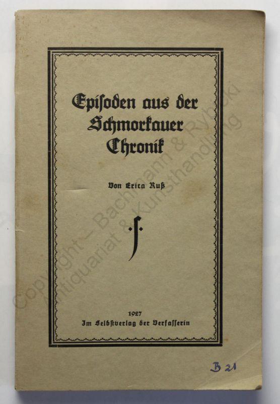 Ruß Episoden aus der Schmorkauer Chronik 1927 Ortskunde Geschichte Sachsen xz