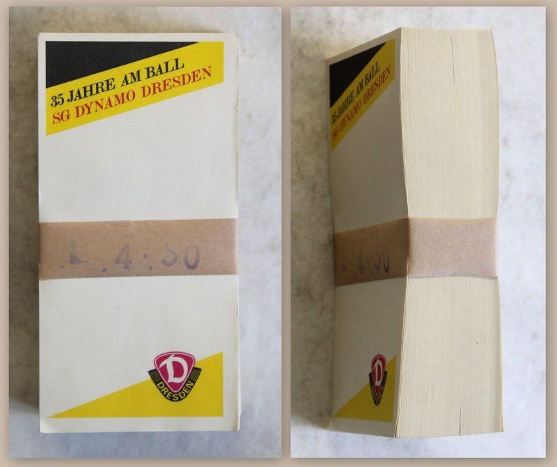 SGD Dynamo Dresden Notizblock Kellnerblock Werbeblock mit orig Bandarole 1988 xz