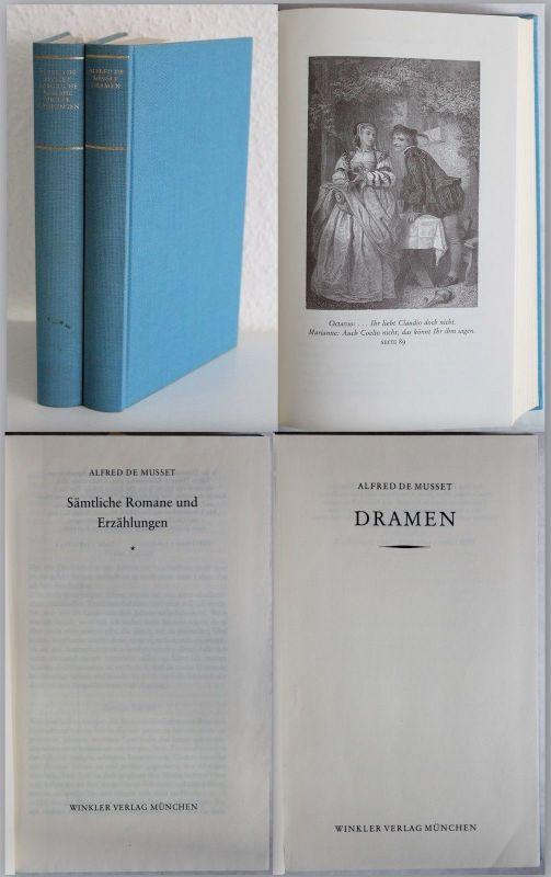 De Musset Sämtliche Romane und Erzählungen Dramen 1980/81 2 Bd Klassiker xz