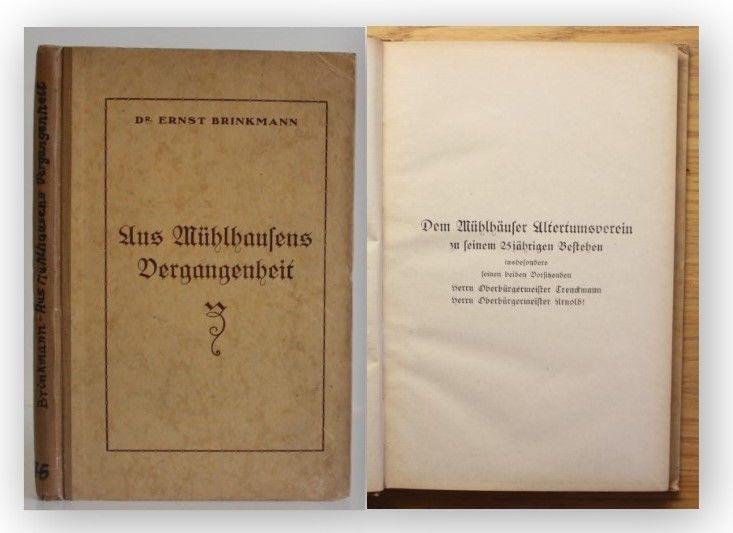Brinkmann Aus Mühlhausens Vergangenheit 1925 Ortskunde Thüringen Landeskunde xy