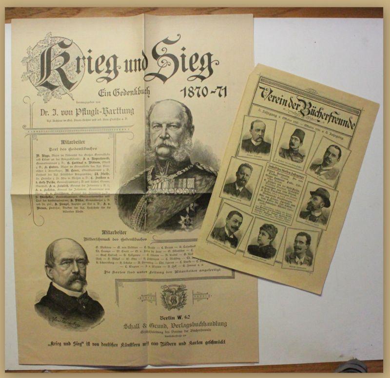 Orig. Broschüre Supskripsionsblatt Krieg und Sieg um 1900 Geschichte Militär sf