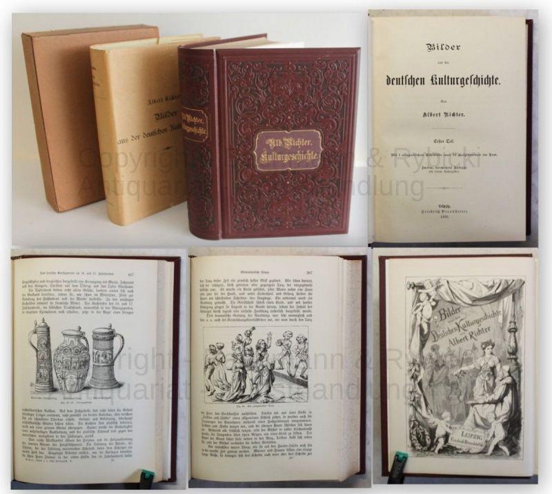 Richter Bilder aus der deutschen Kulturgeschichte 1893 dekorativer Einband xy
