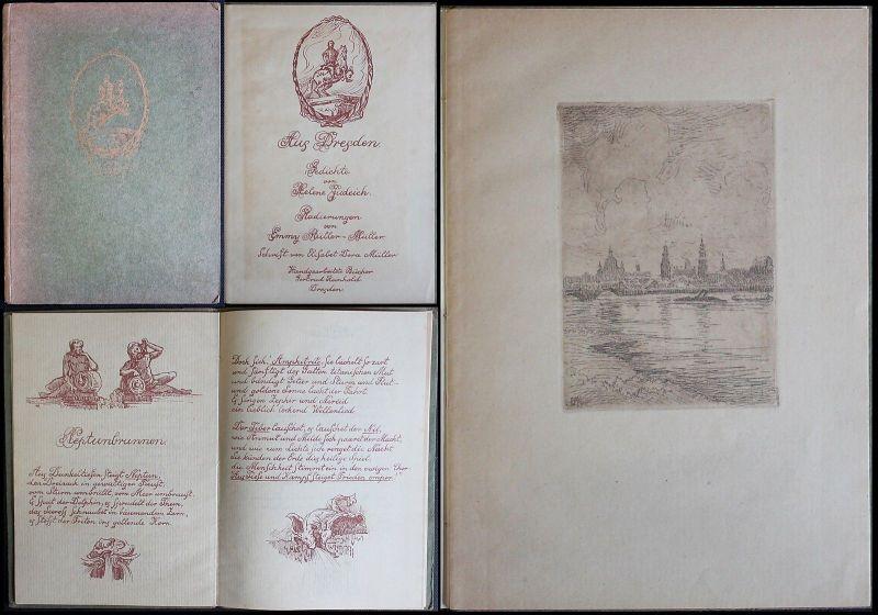 Helene Judeich -Aus Dresden. Gedichte, 6 Originalradierungen - o. J. - xz