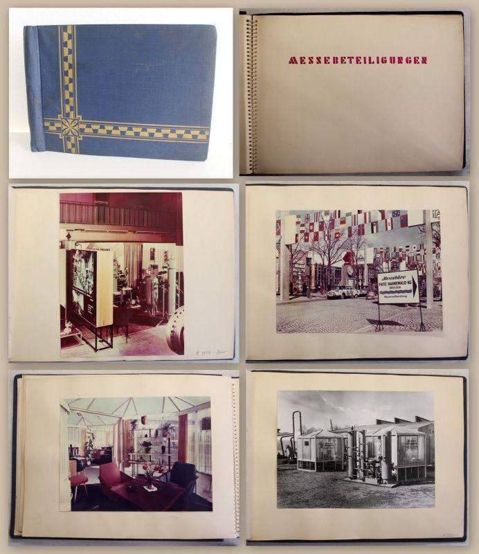 Fotoalbum Firma Fritz Hahnewald Dresden Leipziger Frühjahresmesse 1967 & 1968 xz