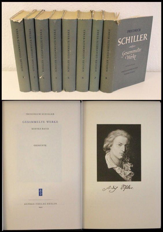 F. Schiller- Gesammelte Werke - 8 Bände 1954/55- Gedichte Dramen Philosophie -xz