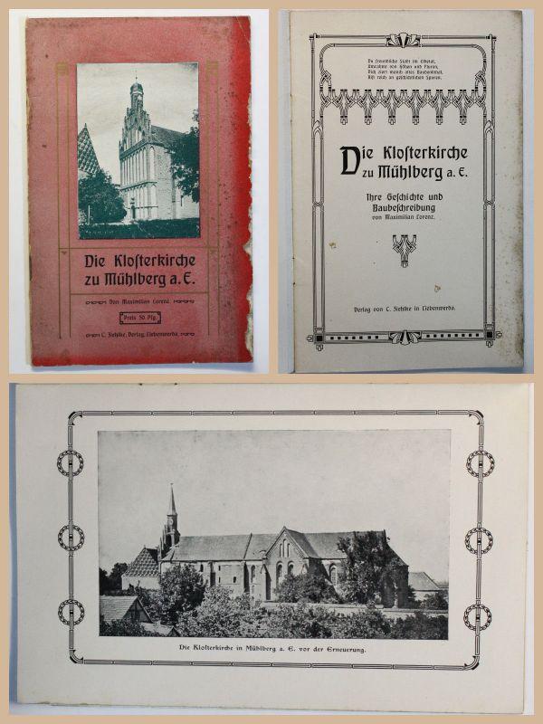 Original Prospekt Klosterkirche zu Mühlberg Elbe um 1910 Brandebrug Elbstadt xz
