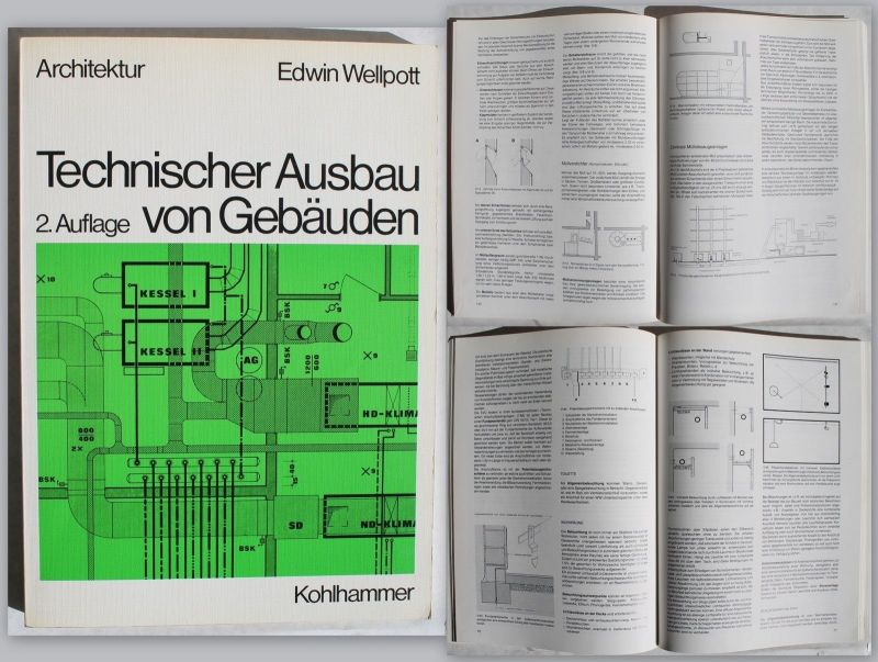 Wellpott Technischer Ausbau von Gebäuden 1979 Ingenieurwissen Architektur xz