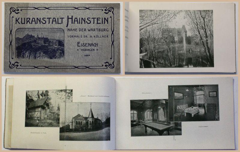 Prospekt Kuranstalt Hainstein Nahe Wartburg Eisenbach Thüringen um 1910 Bilder