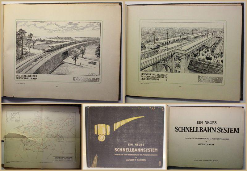 Scherl Ein neues Schnellbahn-System 1909 Eisenbahn Verkehr Geschichte Reise sf