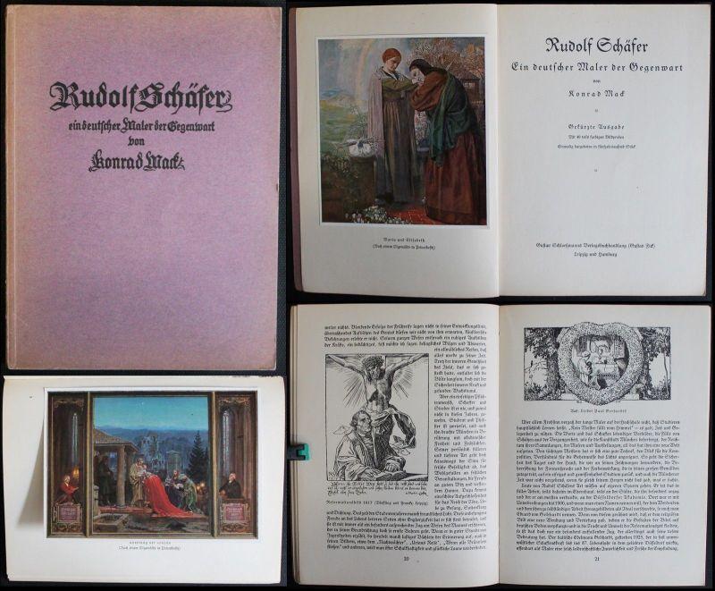 Mack - Rudolf Schäfer Ein deutscher Maler der Gegenwart 1927 - Kirchenmaler xz