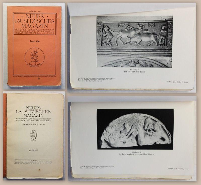9b8c3ca7ae5cfe Neues Lausitzisches Magazin Band 106 Zeitschrift Oberlausitz 1930 Sachsen  xz 0