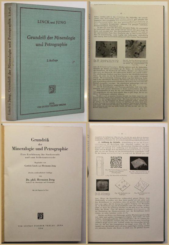 Jung Grundriß der Mineralogie und Petrographie 1954 Studium Gesteine Wissen sf