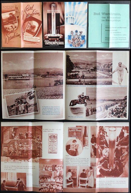 3 Prospekte Bad Warmbrunn im Riesengebirge -1939- Niederschlesien Polen - xz