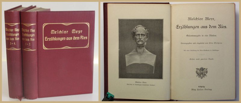 Meyr Erzählungen aus dem Ries 1900 2 Bde Belletristik Literatur Klassiker xy