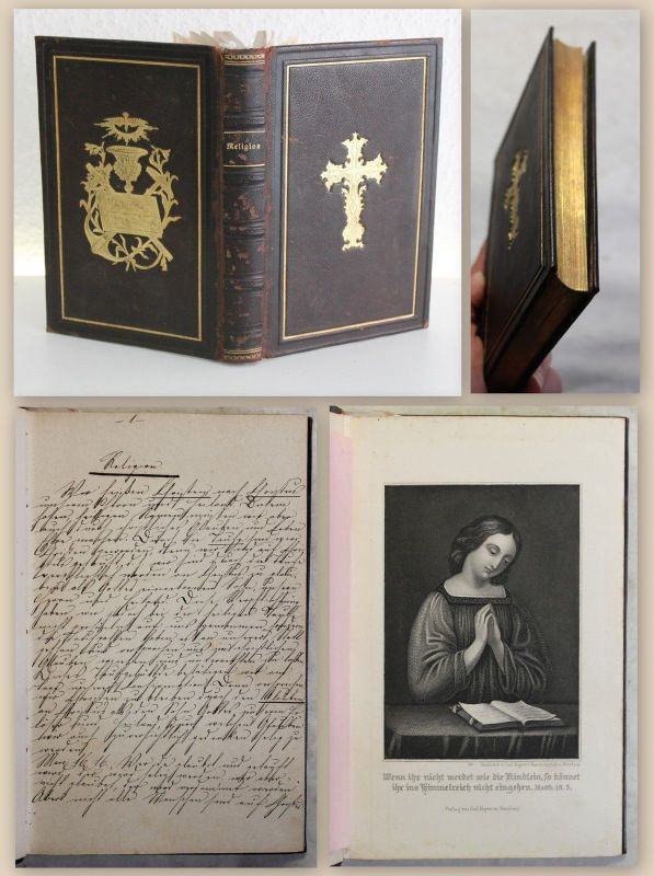 Franziska von Strombeck Fünfteilige Handschrift 1871 Religion Glaube Gebet xz