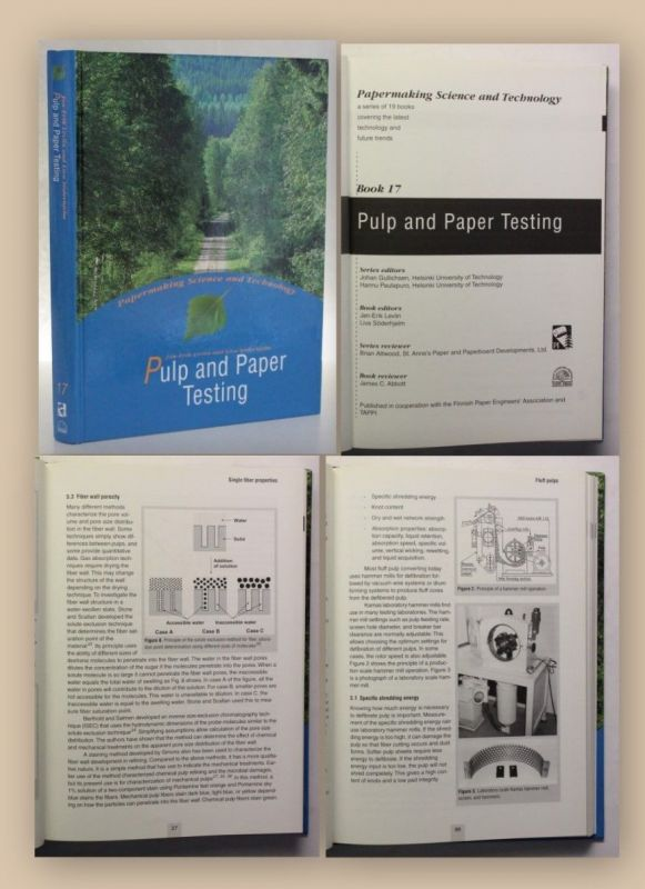 Levlin Pulp and Paper Testing Book 17 1999 Industrie Papier Wirtschaft xy