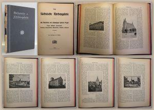 Buchwald Neue Sächsische Kirchengalerie Ephorie Pegau um 1900 Ortskunde Sachsen