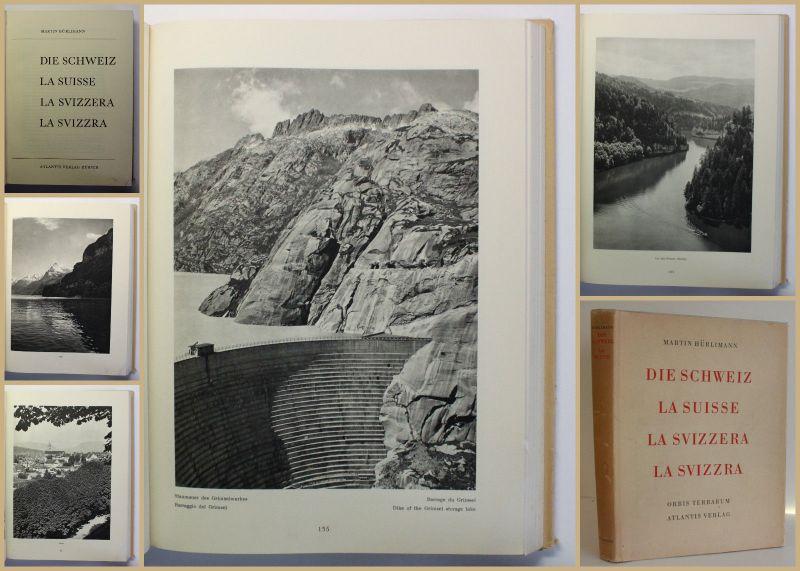 Hürlimann Die Schweiz 1931 Landeskunde Geografie Geographie Ortskunde Reise xy