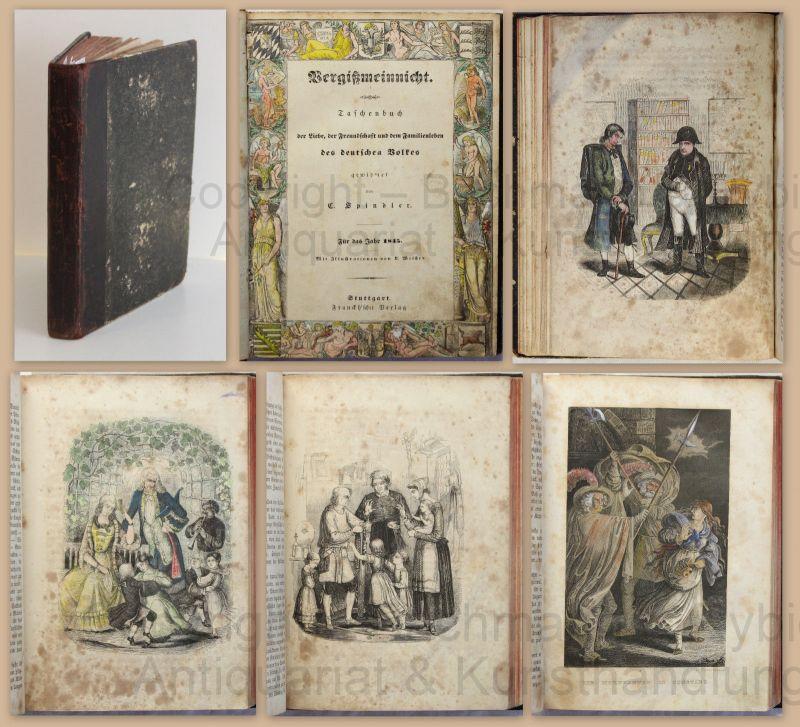 Spindler Vergißmeinnicht Taschenbuch der Liebe Freundschaft & Familienleben 1845
