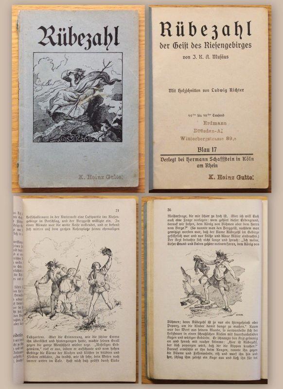 Musäus Rübezahl der Geist des Riesengebirges um 1900 Märchen Sagen Krakonoš xz