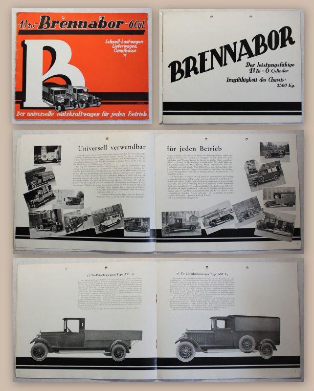Orig Werbeprospekt Brennabor Schnell-Lastwagen Lieferwagen Omnibusse um 1930 xz