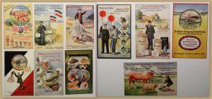 Orig. Wahl Propaganda 10 Karten ca. 1910 Landwirtschaft Handel Geschichte sf