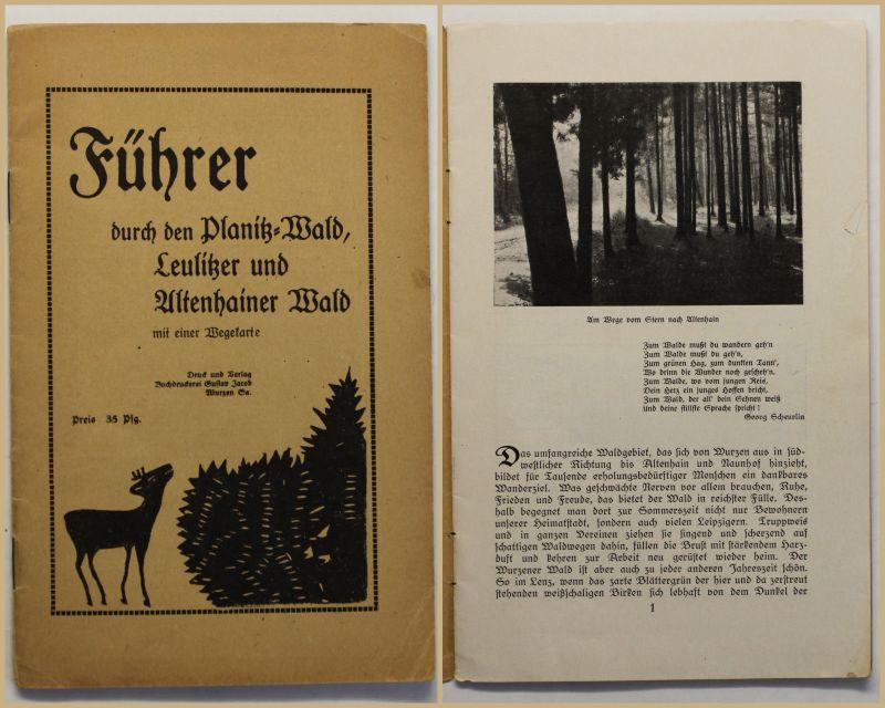 Orig Prospekt Führer durch den Planitzwald um 1920 Reise Geografie Geographie sf