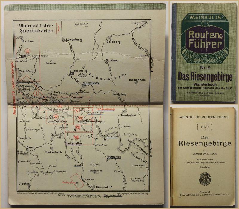 Original Prospekt Kirsch Das Riesegebirge 1927 Polen Geografie Ortskunde sf