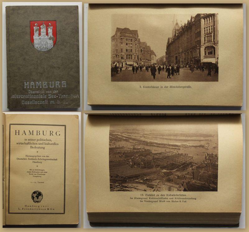 Hamburg in seiner politischen, wirtschaftlichen & kulturellen Bedeutung 1921 sf