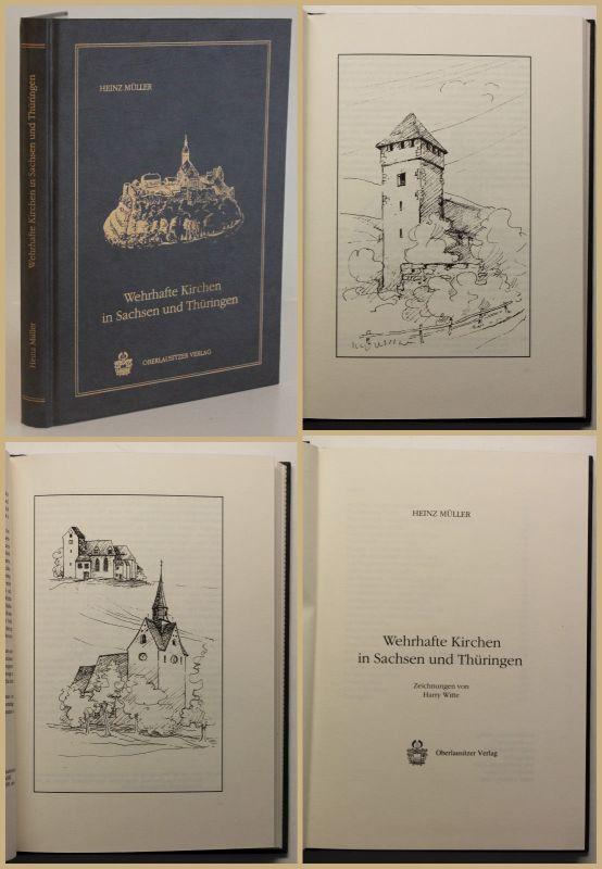 Müller Wehrhafte Kirchen in Sachsen und Thüringen 1990 Ortskunde Geschichte sf