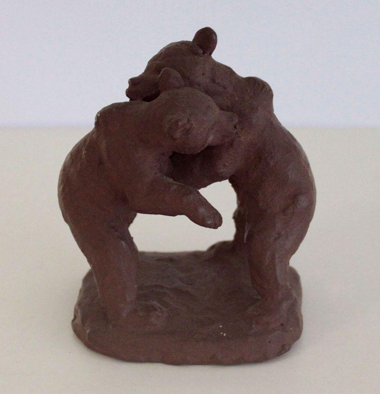 Curt Tausch Tierplastik Bären Tanzbär Ton unsigniert um 1930er/40er Skulptur xz 0
