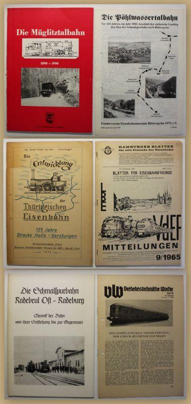 Konvolut Eisenbahnliteratur 6 Hefte um 1970 Technik Geschichte Eisenbahn sf