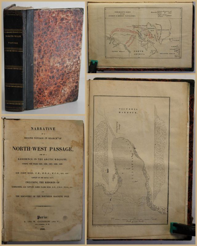 Ross Narrative of a Second Voyage in Search of a North-West Passage 1835 sf