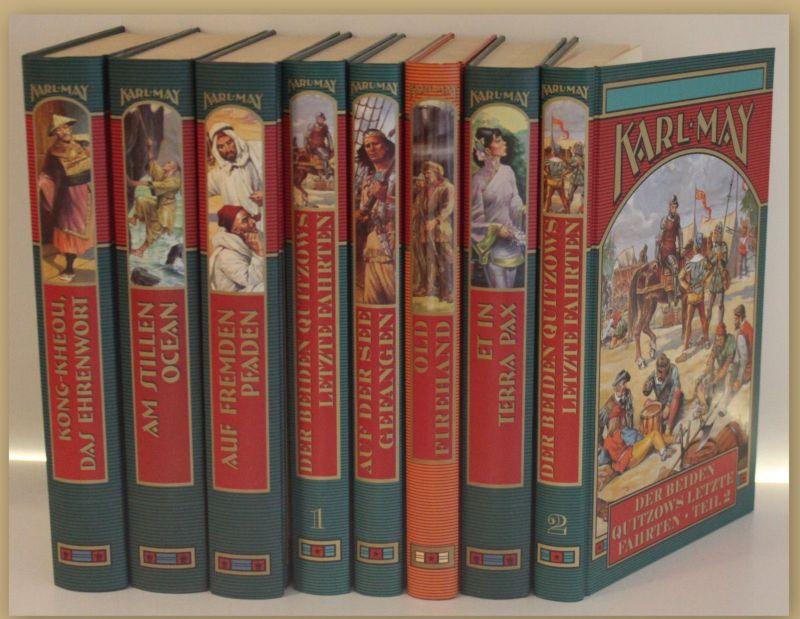 Konvolut/ Sammlung Karl May um 2000 8 Bde Weltbild Klassiker Weltliteratur sf