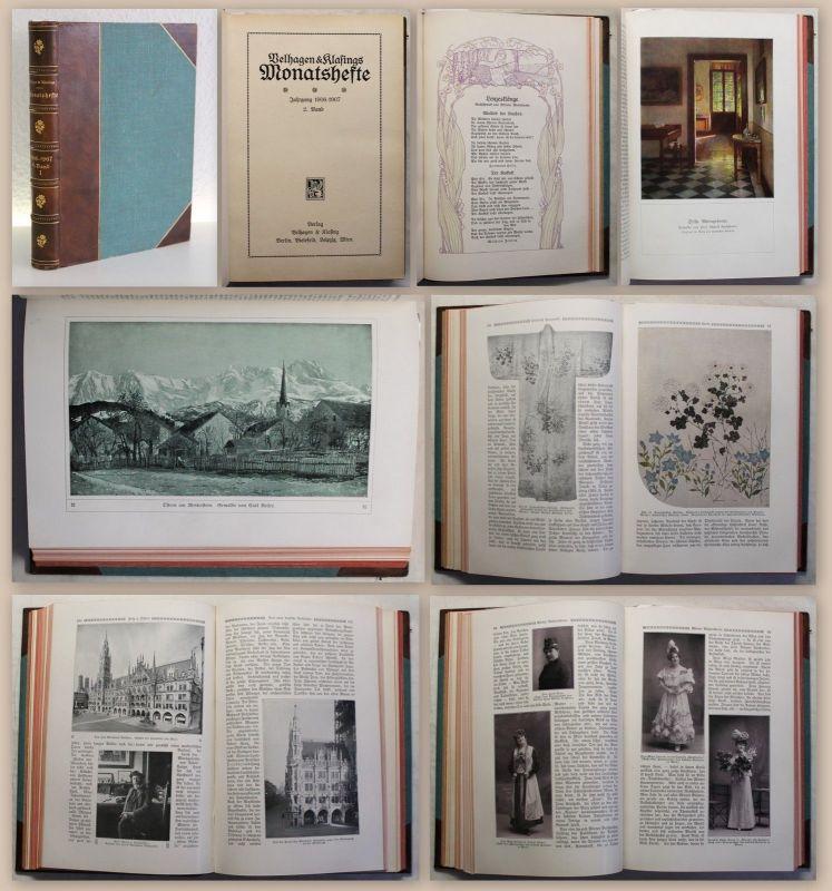 Velhagen & Klasings Monatshefte Jahrgang März-Mai 1907 2. Bd Kunst Kultur