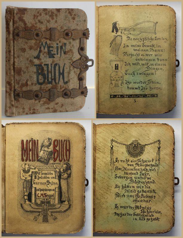 Bagel Mein Buch Mit facsimilirten Gedichten von Carmen Sylva 1885 Mumiendruck sf