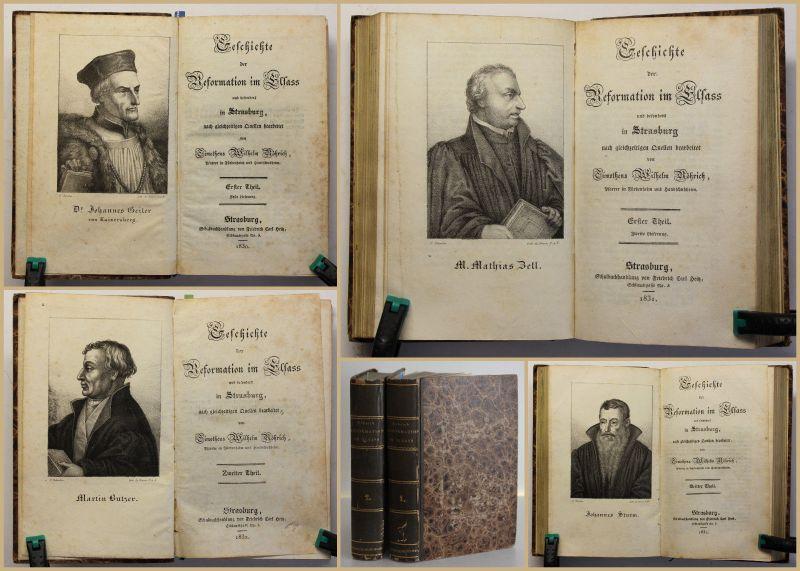 Röhrich, Thimotheus Wilhelm Geschichte der Reformation im Elsass 1830 2 Bde sf