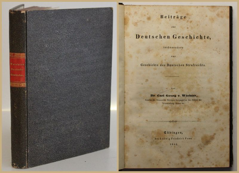 Wächter Beiträge zur Deutschen Geschichte des Strafrechts 1845 Gesellschaft sf