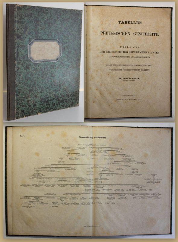 Kurts Tabellen der preussischen Geschichte 1861 Staat Hohenzollern Fürsten sf