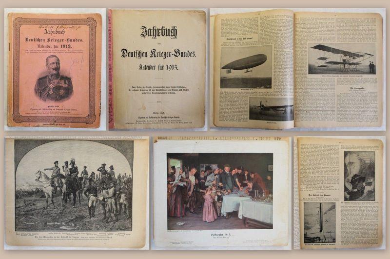 Jahrbuch des Deutschen Krieger-Bundes Kalender für 1913 illustriert Militaria xz